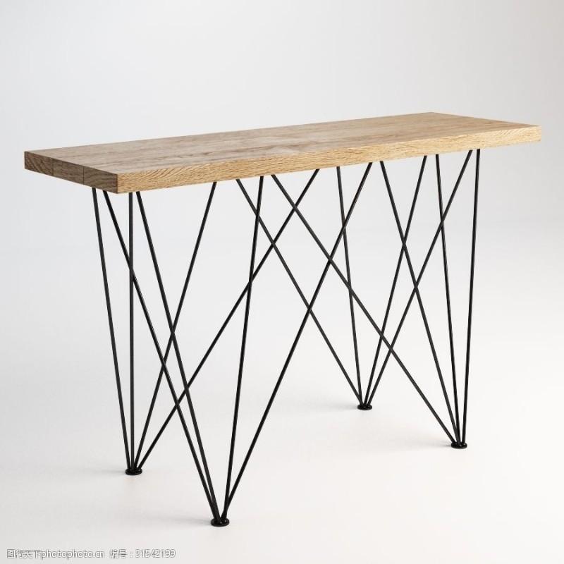 简约桌子3d模型下载