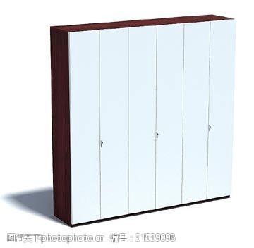 蓝色大型衣柜3d模型下载