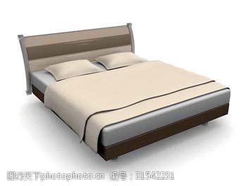 现代简约床3d模型下载