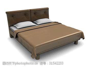 小美式风格大床3d模型下载
