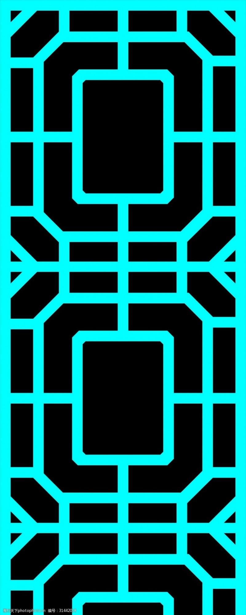 豪华装潢中式镂空对称装饰