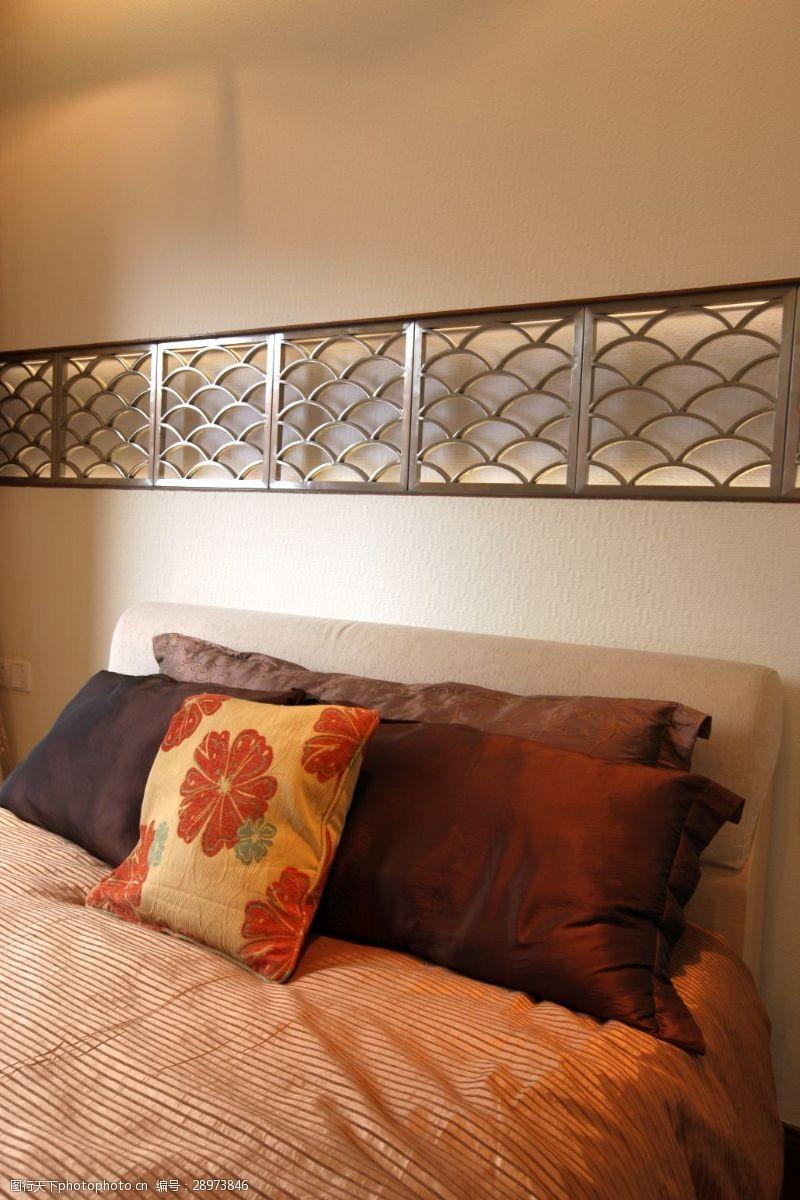 都市风室内设计卧室墙面效果图JPG源文件