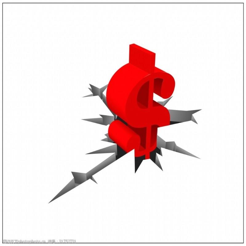 红色钱币符号矢量素材
